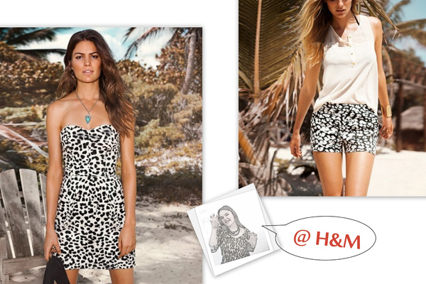 Animal print in green by H&M