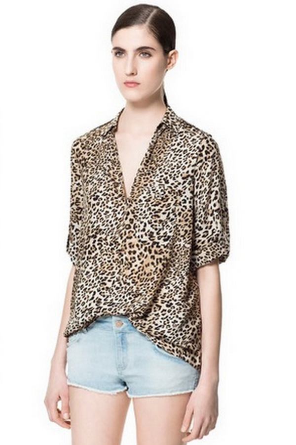Collage of casual animal print by Zara