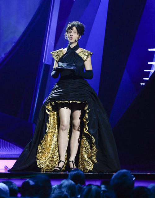 eurovision-gaultier-horror-dress