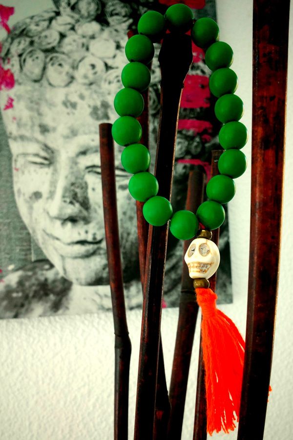 Green and red bracelets