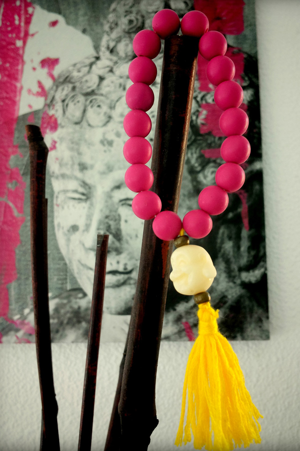 Pink and yellow summer style bracelets