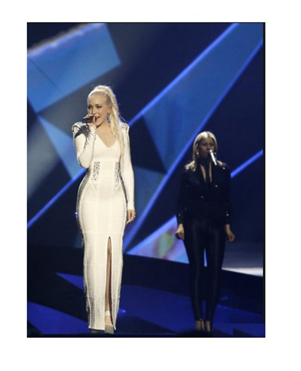 white-dress-norway-eurovision-style