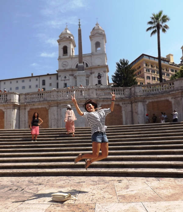 Jumping for joy in Rome