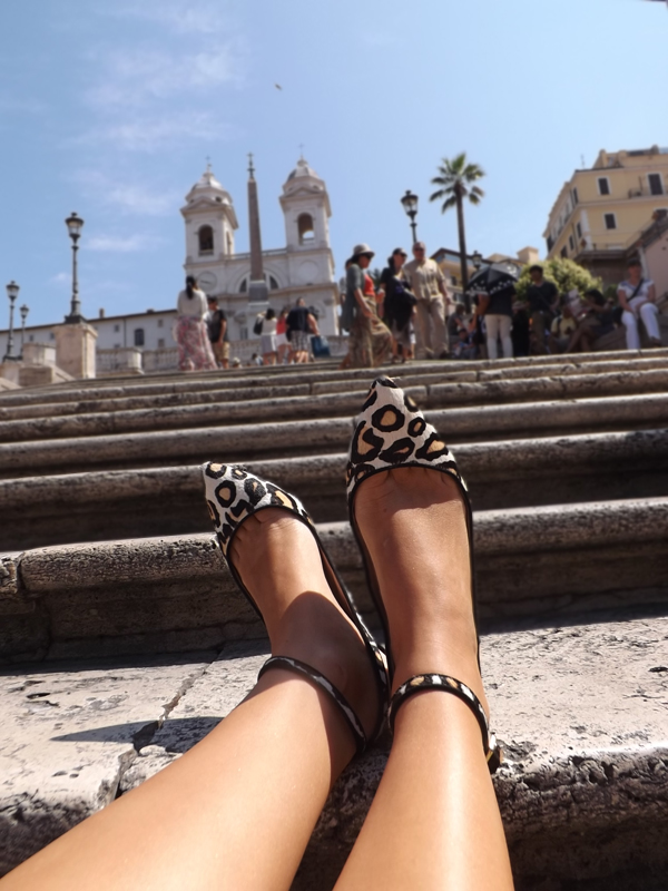 Leopard shoes in Rome