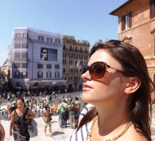 Prada sunglasses in Rome