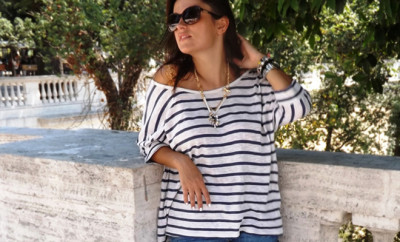 stripes-blue-and-white-and-denim-short-casual-look-for-summer-(1)
