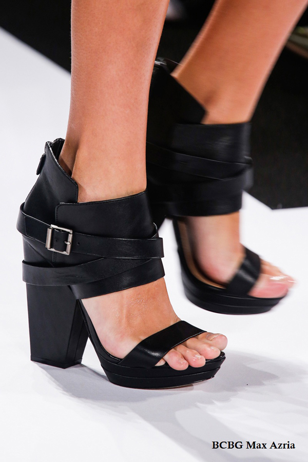 BCBG details trendy shoes