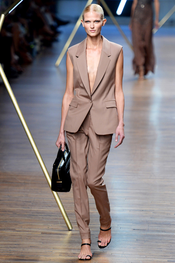 Jason Wu beige suit office look