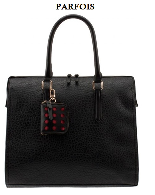 black office parfois bag
