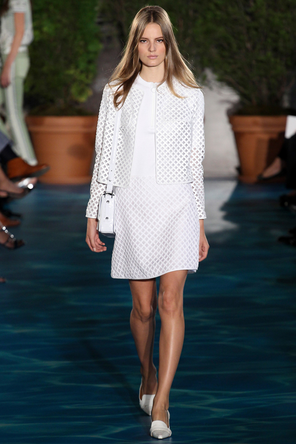 Tory burch white suit
