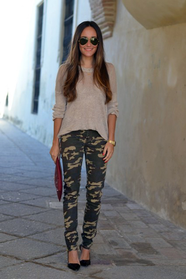 Army pants sweater