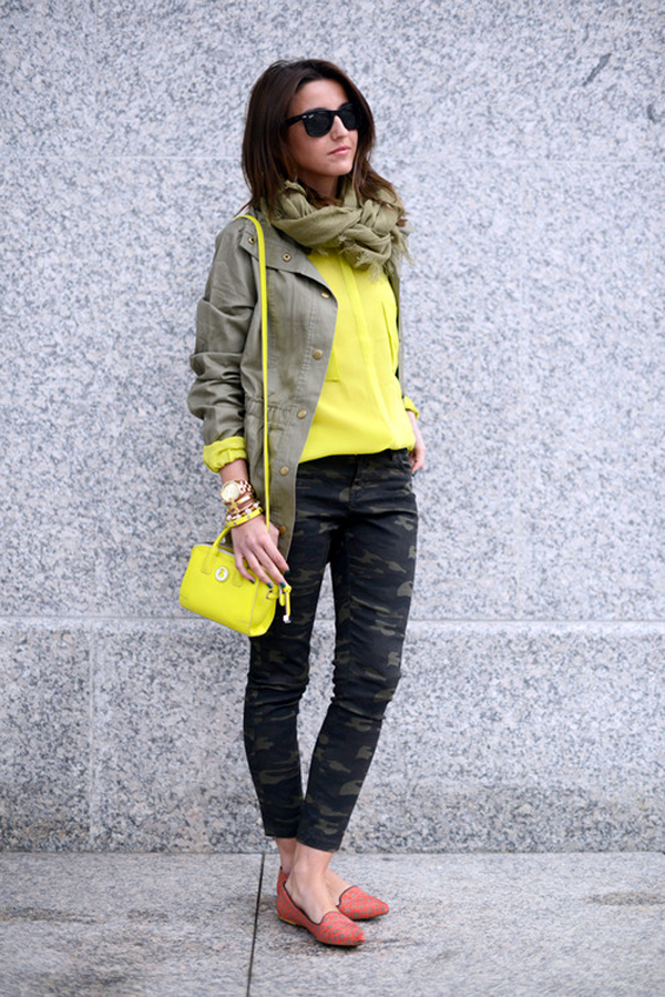 Army pants with flats