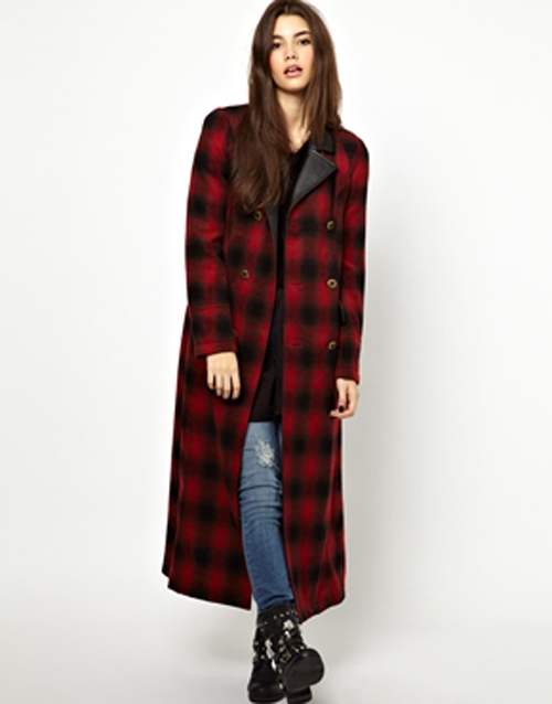 Asos plaid coat