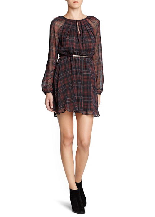 Mango dress tartan