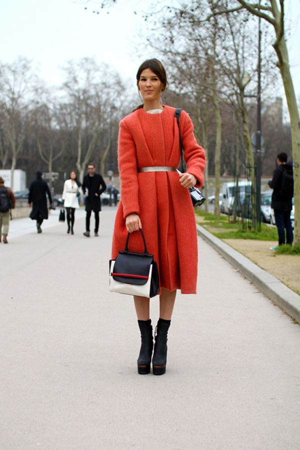 Red coat fashion