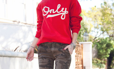 red-sweater-army-pants