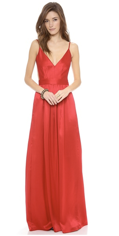 Beautiful gorgeous red dress for prom night