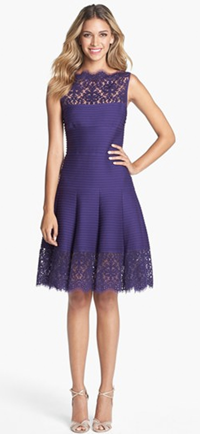 Beautiful lace purple dress for party