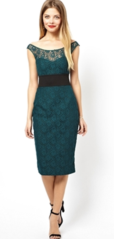 Green dress from Asos for rectangular body shape