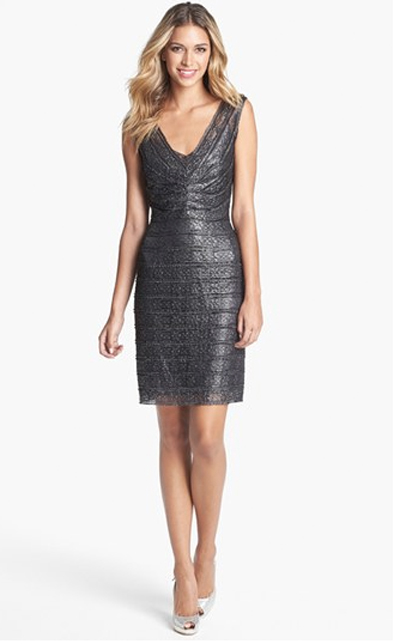 Grey Calvin Klein dress for party
