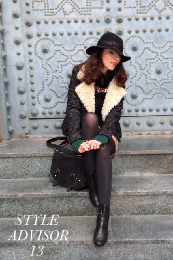 gir with hat and chic outfit for matching winter clothing with summer items