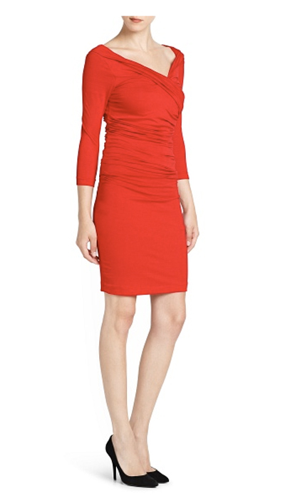 Red dress from mango for clubbing