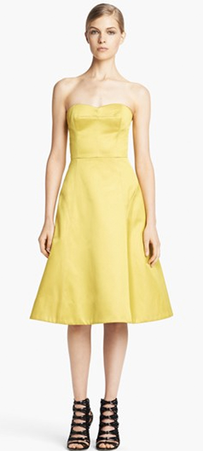Yellow dress for party