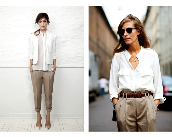 beige-pants+and+white-shirt-work-office-attire