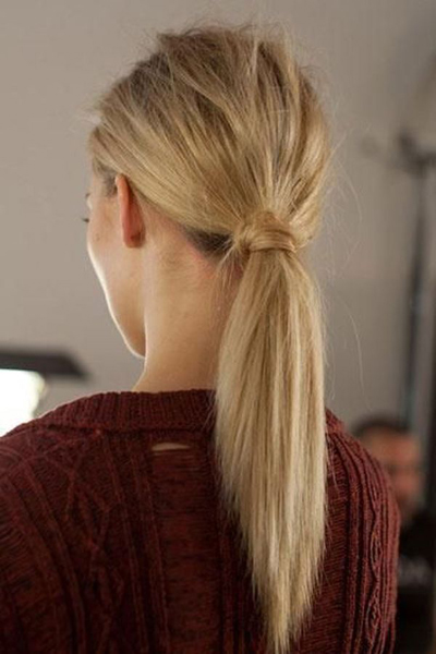 How to arrange blonde hair