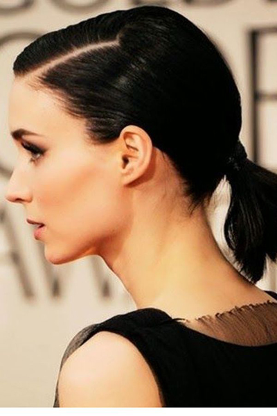 Great short hair ponytail
