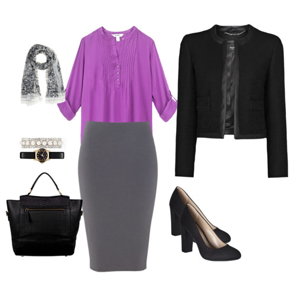 Office work look with the color of the year trendy and elegant from Style Advisor
