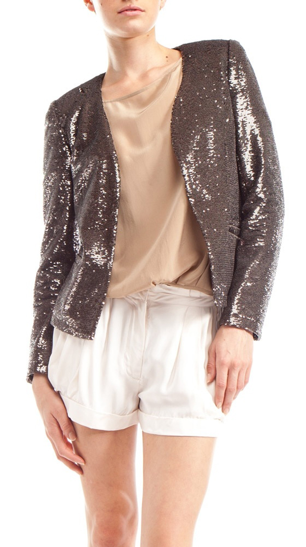 Sequin blazer for a saturday night look