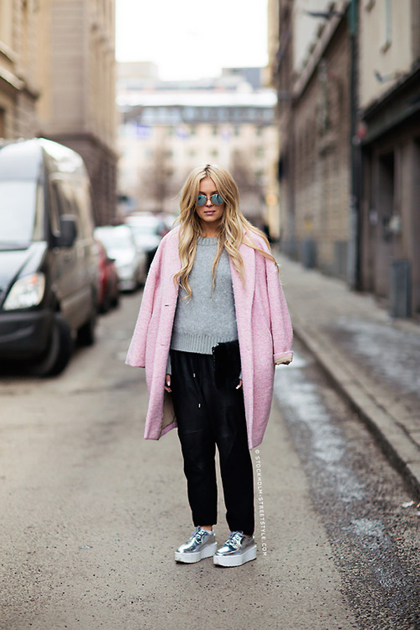 Light pink coat