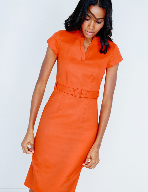 Orange dress for office: What to wear to work