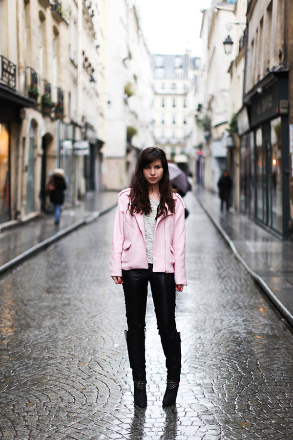Pink coat from Le Blog de Betty Rose