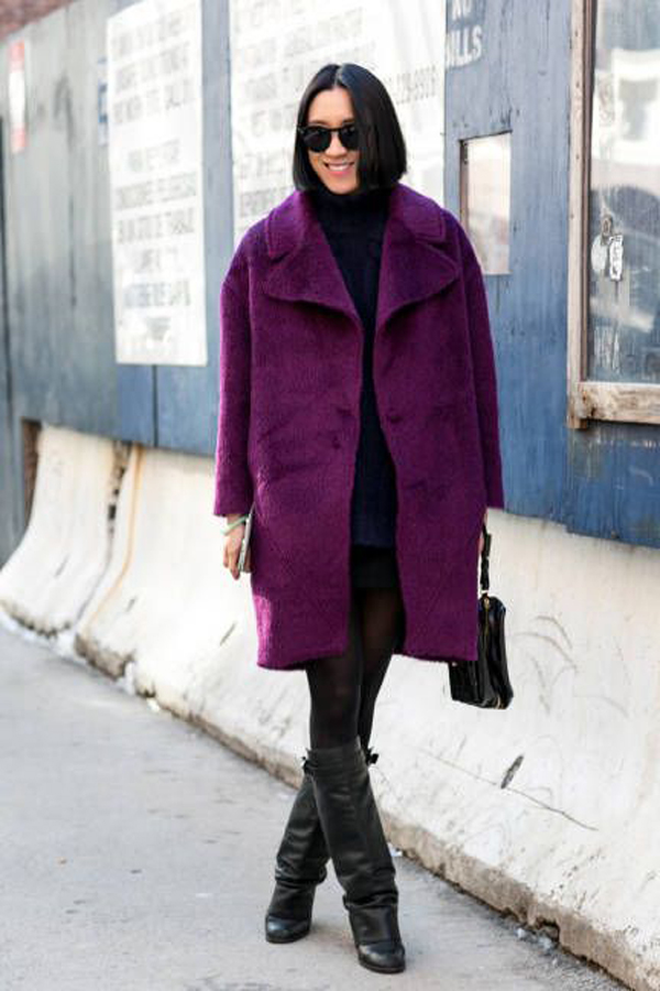 Purple coat - Spring trends fall 2014