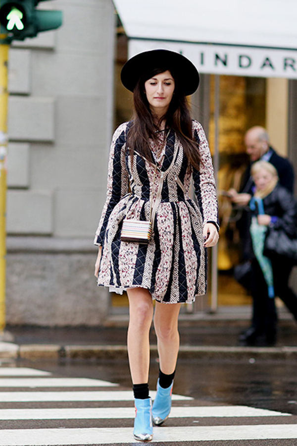 How to wear hats, street style at Milan Fashion Week in fall 2014