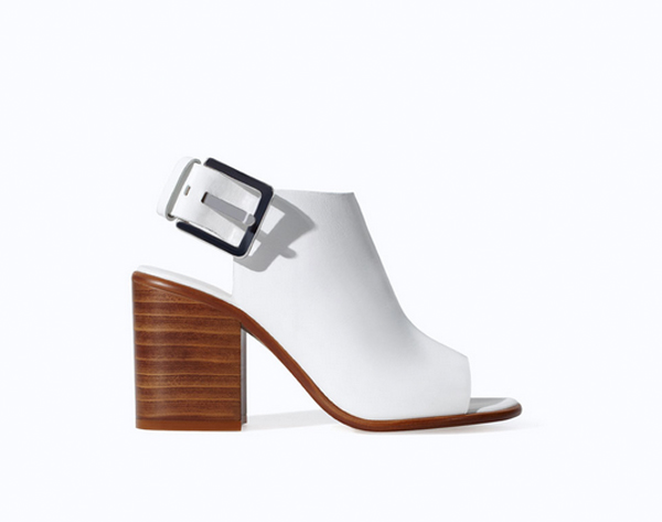 Trends for this year's spring: White Zara shoes