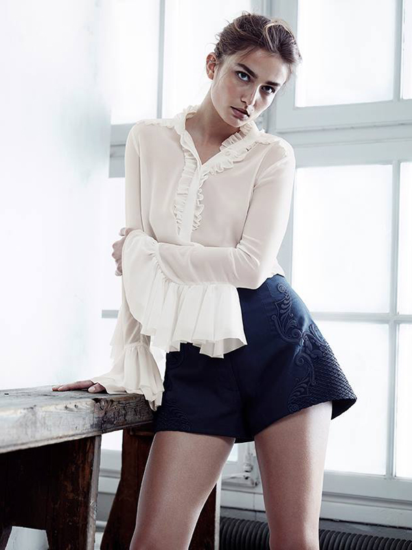 Shorts from H&M with Andreea Diaconu