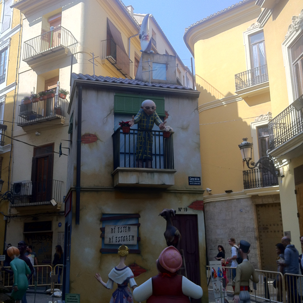 Las Fallas in Spain