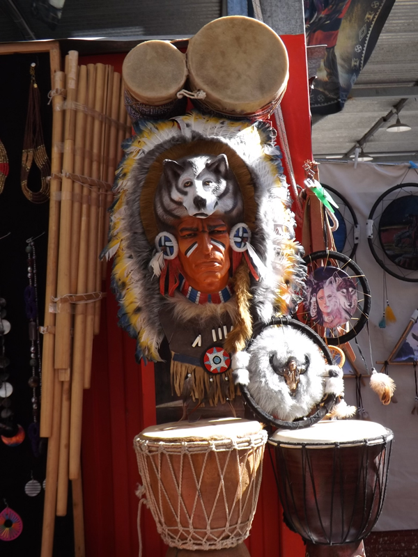 Indian mask at the flea market