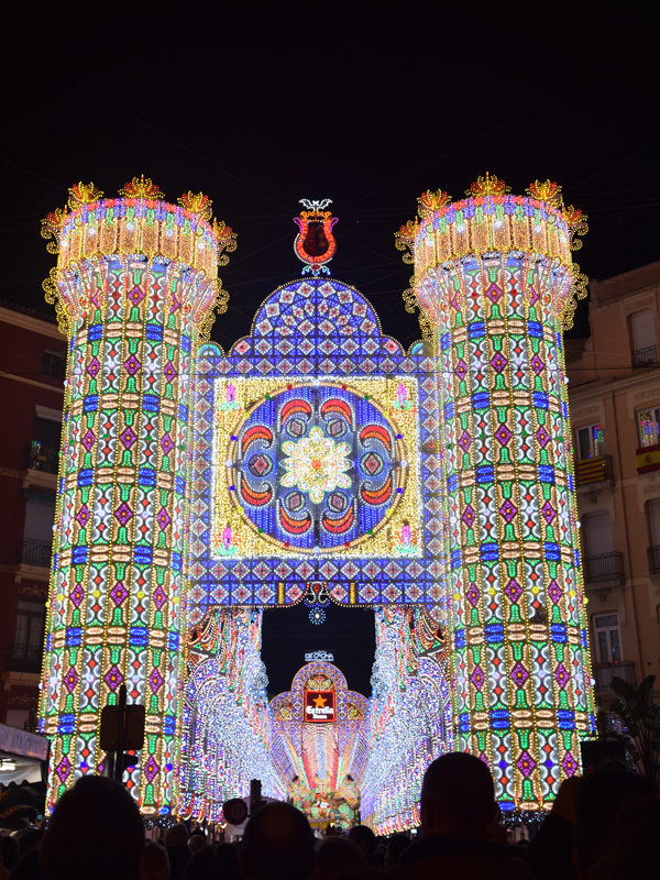 Lights at Las Fallas festival