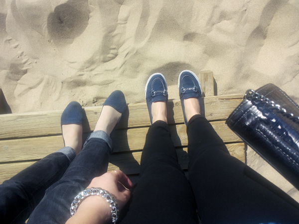 Shoes at the beach, holiday style