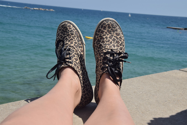 Animal print sneakers from H&M