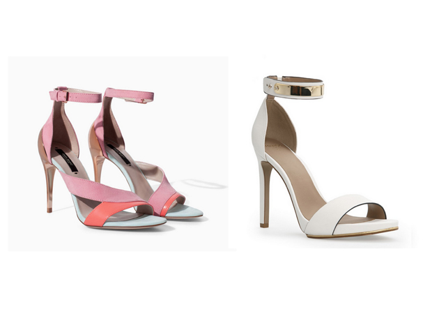Sandals from Zara and Mango in trends for this spring and summer