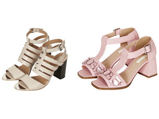 Sandals from Topshop in pastels from this collection chosen by Style Advisor