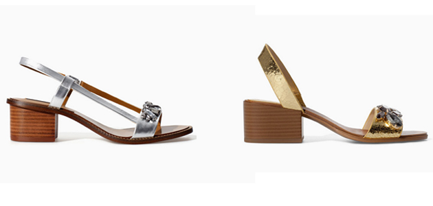 Sandals from Zara, golden and silver for summer by Style Advisor