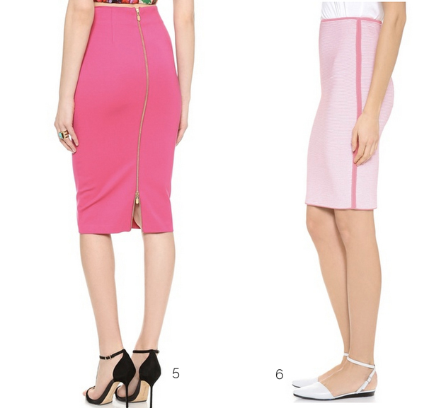 hot-pink-pencil-skirt
