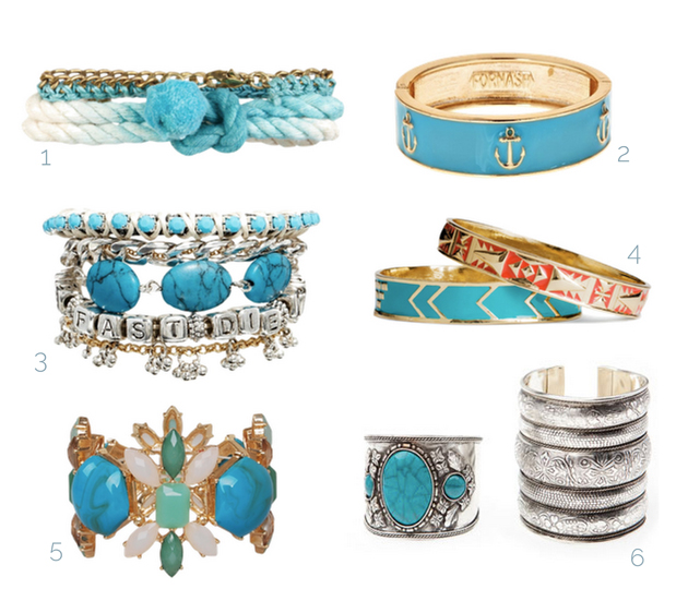 bracelets in a boho or hippie style from different brands for selling