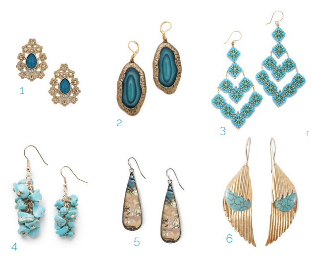 turquoise-earrings shop online